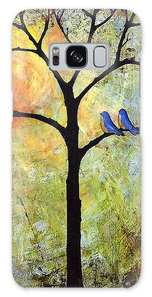 Bluebird Galaxy Case - Tree Painting Art - Sunshine by Blenda Studio