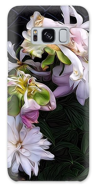 Tree Peony Galaxy Case by Alexis Rotella