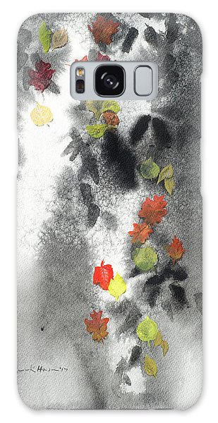 Tree Shadows And Fall Leaves Galaxy Case