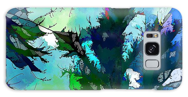 Tree Spirit Abstract Digital Painting Galaxy Case