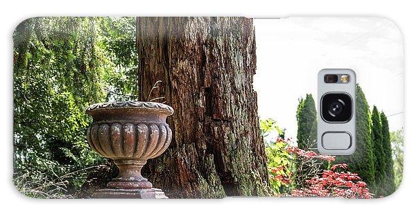 Tree Stump And Concrete Planter Galaxy Case