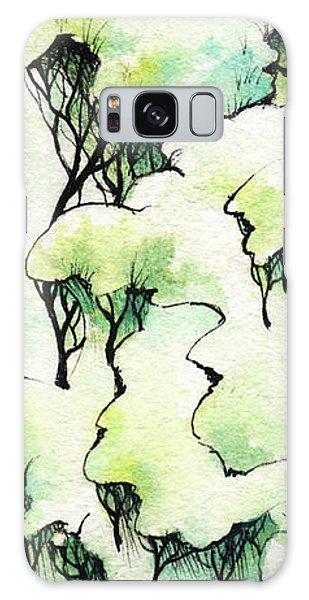 Galaxy Case - Tree Top Clouds by Rachel Christine Nowicki