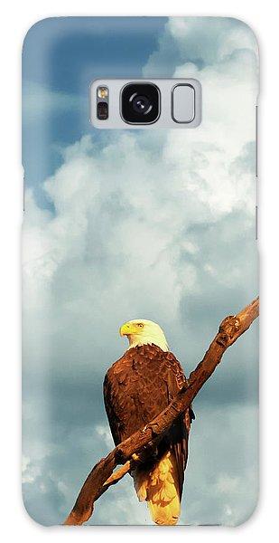 Tree Top Eagle  Galaxy Case