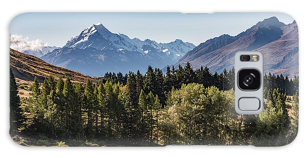 Galaxy Case featuring the photograph Tree View Of Mt Cook Aoraki by Gary Eason