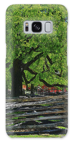 Tree With Colonial Fence Galaxy Case