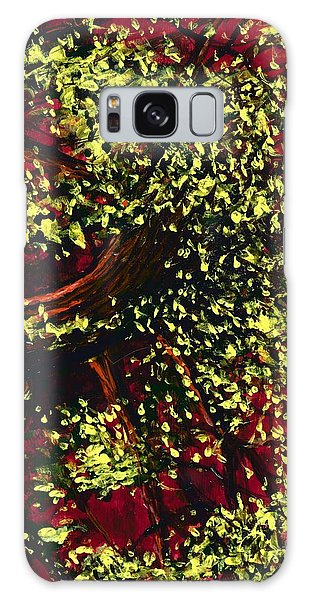 Tree With Red Sky Galaxy Case