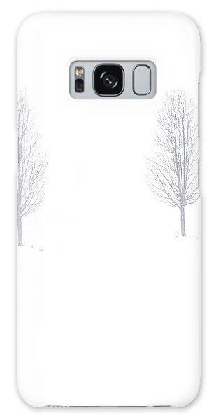 Trees And Snow Galaxy Case by Daniel Thompson