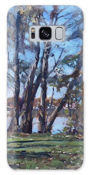 Great Lakes Galaxy Case - Trees By The River by Ylli Haruni
