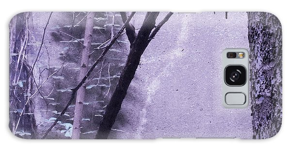 Trees Growing In Silo - Purple Landscape  Edition Galaxy Case by Tony Grider