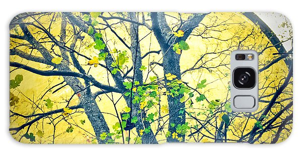 Trees Growing In Silo  - Large Yellow Edition Galaxy Case