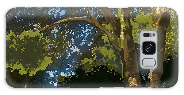 Trees In Park Galaxy Case by Walter Chamberlain