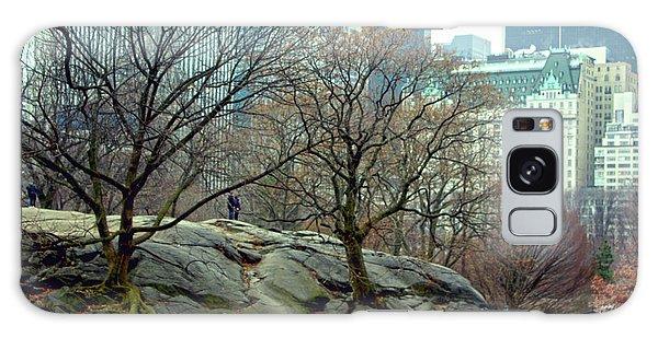 Trees In Rock Galaxy Case by Sandy Moulder