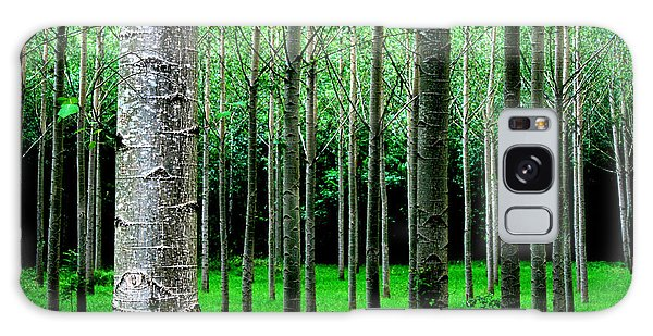 Trees In Rows Galaxy Case