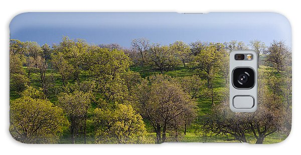 Trees On Hillside Galaxy Case