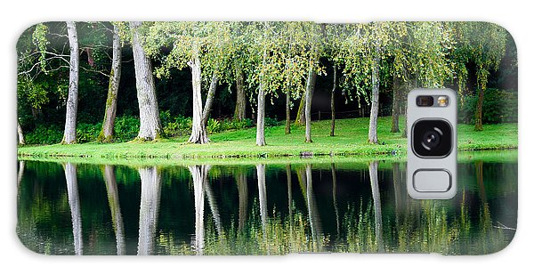 Trees Reflected In Water Galaxy Case