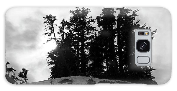 Trees Silhouettes Galaxy Case