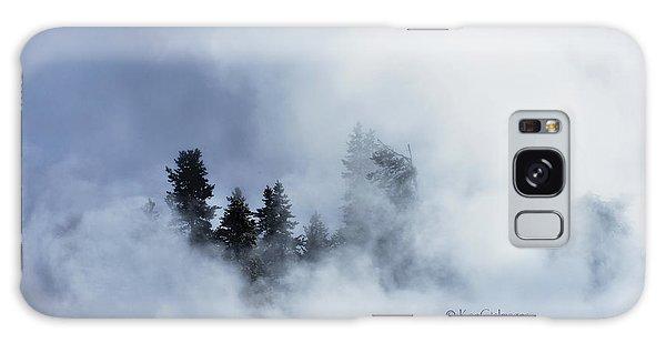 Trees Through Firehole River Mist Galaxy Case