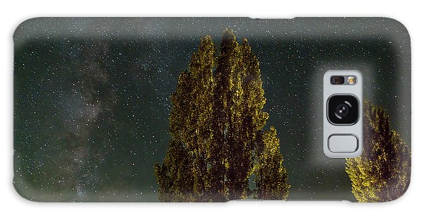 Trees Under The Milky Way On A Starry Night Galaxy Case