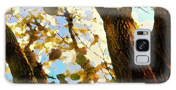 Galaxy Case featuring the digital art Treetop Abstract-look Up A Tree by Shelli Fitzpatrick