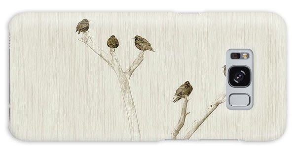 Treetop Starlings Galaxy Case