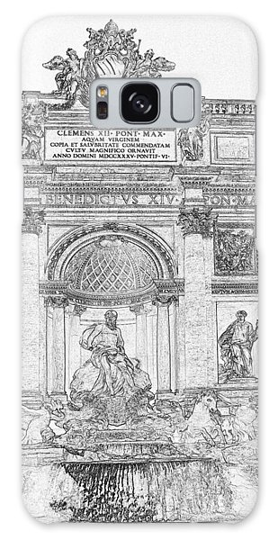 Galaxy Case - Trevi Fountain Pen And Ink 4778 by Bob Neiman