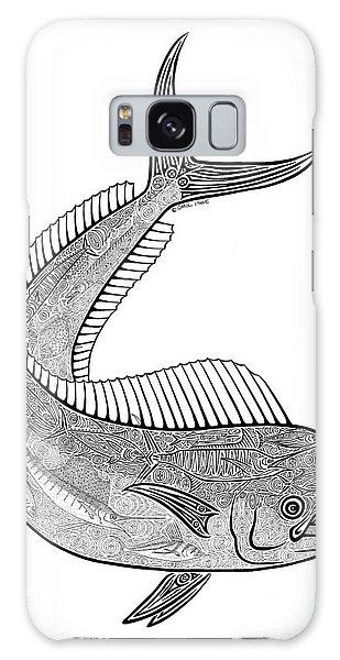 Sport Art Galaxy Case - Tribal Mahi  by Carol Lynne
