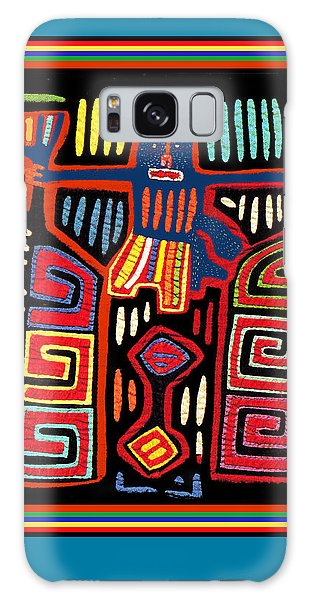 Tribal Woman Fanning Stove Galaxy Case