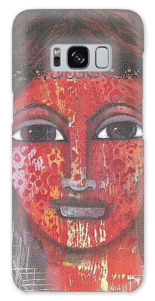 Galaxy Case featuring the mixed media Tribal Woman by Prerna Poojara