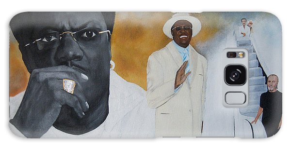 Tribute To Mr. Bernie Mac Galaxy Case by Chelle Brantley