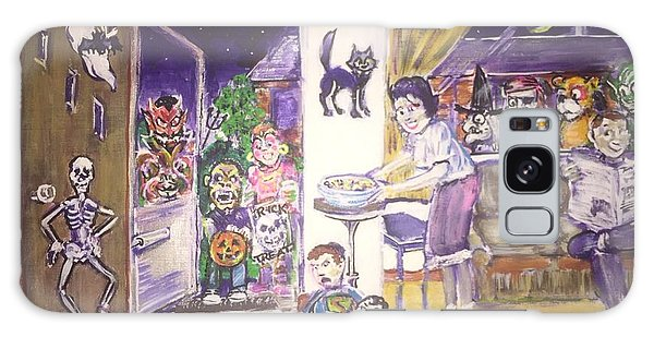 Trick Or Treat On Exeter Street Galaxy Case