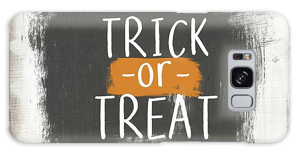 Country Living Galaxy Case - Trick Or Treat Sign- Art By Linda Woods by Linda Woods