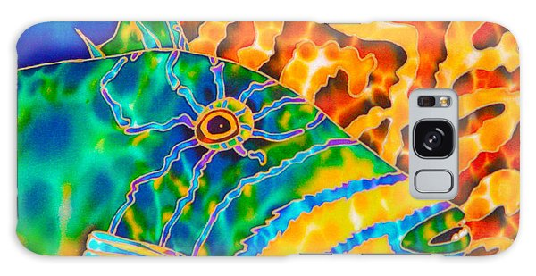 Triggerfish And Brain Coral Galaxy Case
