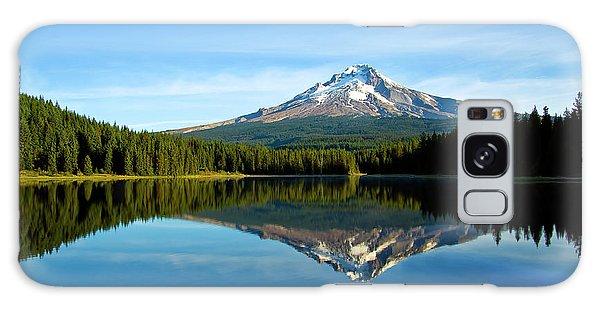 Trillium Lake Mt Hood Fall Galaxy Case