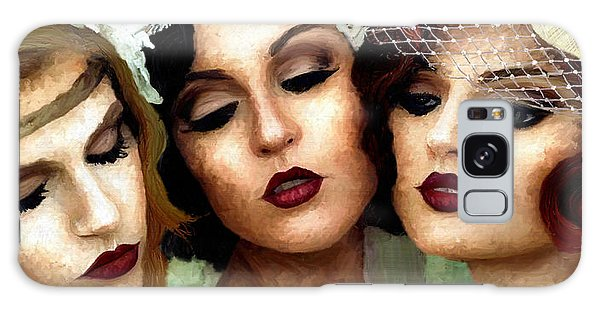 Trio Of Ladies Galaxy Case by James Shepherd
