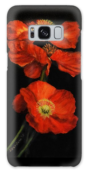 Poppy Trio Galaxy Case by Sandra Nardone