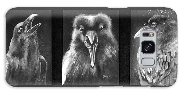 Trio Of Ravens Galaxy Case
