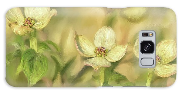 Triple Dogwood Blossoms In Evening Light Galaxy Case by Lois Bryan