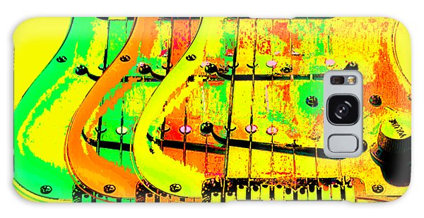 Galaxy Case featuring the photograph Triple Pickguards by Guitar Wacky