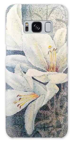 Triplefold White Galaxy Case by Carolyn Rosenberger
