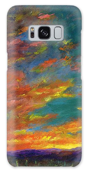 Triptych 1 Desert Sunset Galaxy Case by Frances Marino