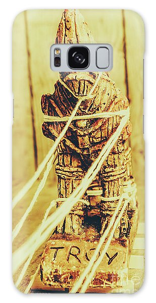 Myth Galaxy Case - Trojan Horse Wooden Toy Being Pulled By Ropes by Jorgo Photography - Wall Art Gallery