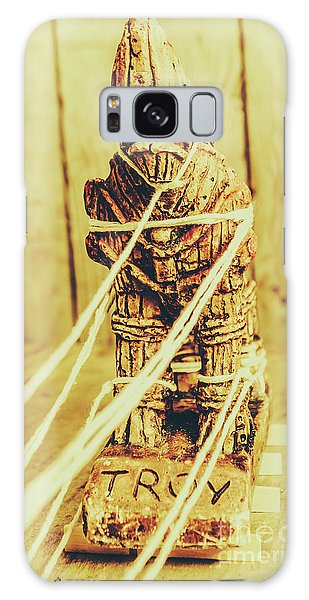 Turkey Galaxy Case - Trojan Horse Wooden Toy Being Pulled By Ropes by Jorgo Photography - Wall Art Gallery