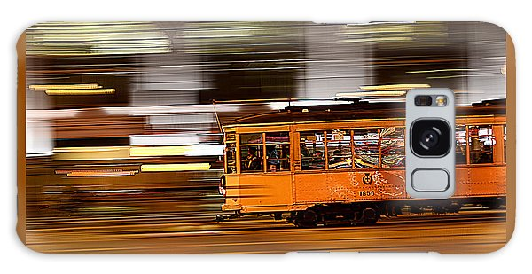 Trolley 1856 On The Move Galaxy Case by Steve Siri