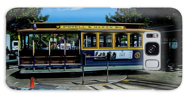 Trolley Car Turn Around Galaxy Case