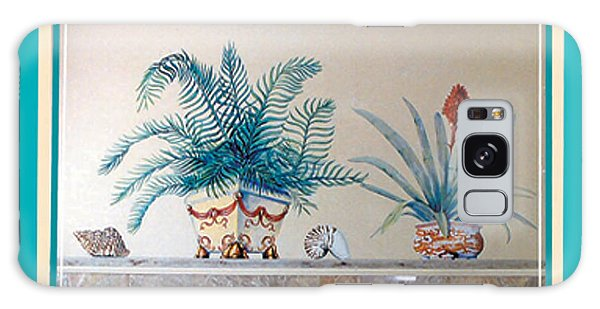 Trompe L'oeil Plants Galaxy Case