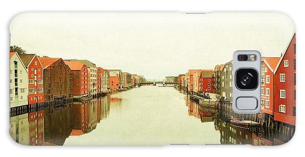 Trondheim On A Rainy Day Galaxy Case