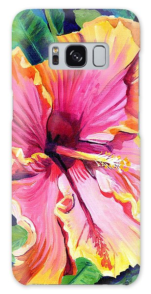 Tropical Bliss Hibiscus Galaxy Case