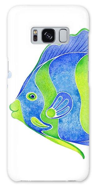 Fish Galaxy S8 Case - Tropical Blue Angel Fish by Laura Nikiel