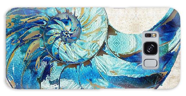 Bradenton Galaxy Case - Tropical Blue Art - Nautilus Shell Bleu 2 - Sharon Cummings by Sharon Cummings