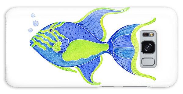 Fish Galaxy S8 Case - Tropical Blue Triggerfish by Laura Nikiel